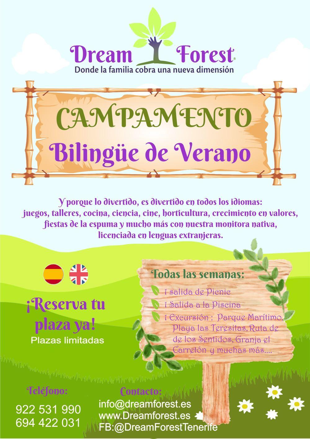 Campamento de verano Bilingüe en Tenerife